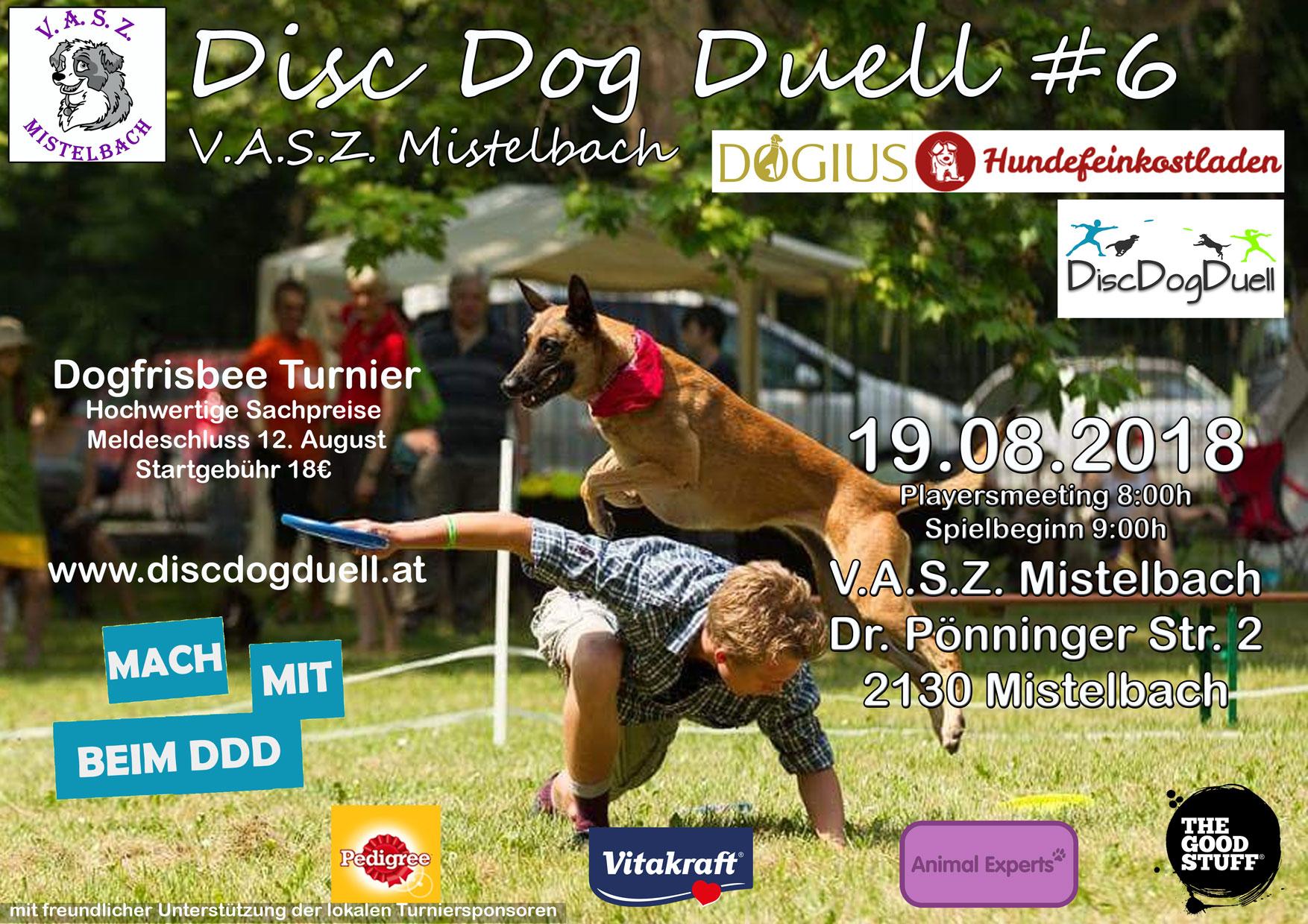 Dogfrisbee Turnier - DiscDogDuell Series 2018 beim V.A.S.Z. Mistelbach