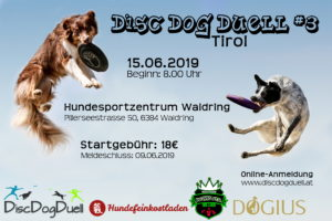Dogfrisbee Turnier am 15.06.2019 in Waidring in Tirol
