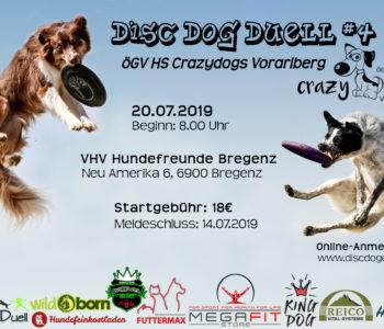Flyer DDD#4 2019 Crazy Dogs Bregenz (Vorarlberg) - Dogfrisbee Turnier