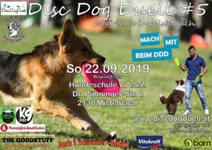 Flyer DDD#5 2019 V.A.S.Z Mistelbach (Niederösterreich) - Dogfrisbee Turnier