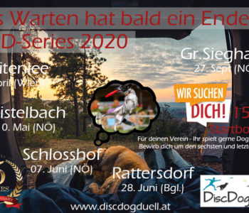 fünfjähriges Bestehen der Österreichischen Dogfrisbee Turnierserie DiscDogduell - Turnierstationen 2020: Breitenlee, Mistelbach, Schlosshof, Rattersdorf, Groß Siegharts