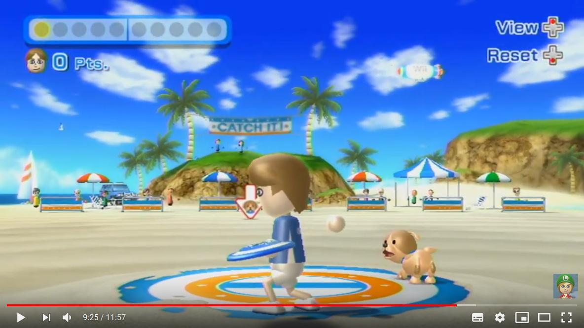 Wii Sports Resort - Dogfrisbee Game auf der Konsole